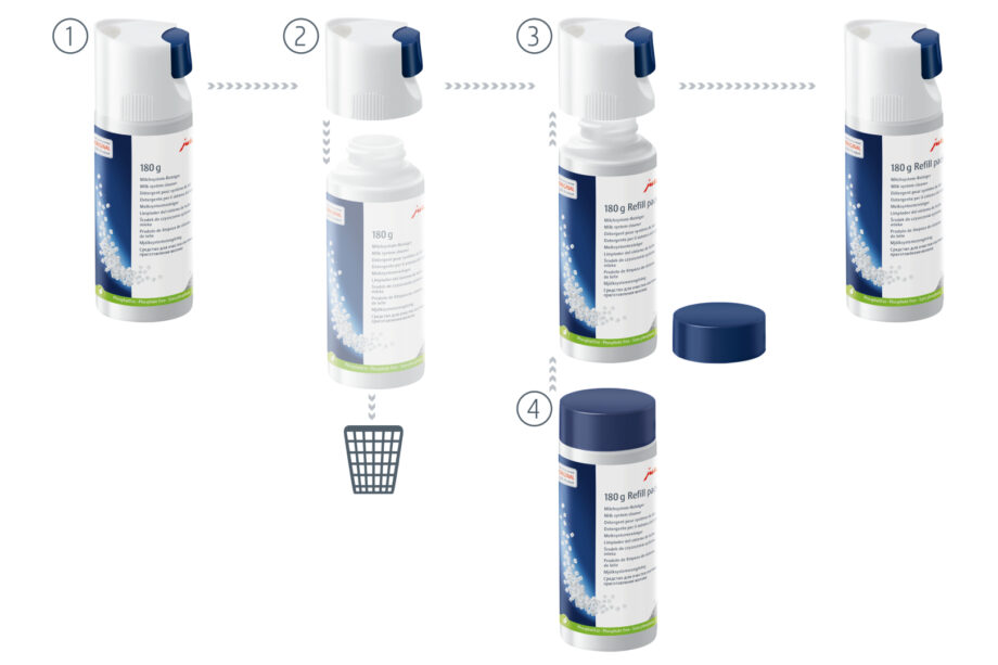Jura Mini-Tabs - Click & Clean 180g ανταλλακτική συσκευασία για 60 καθαρισμούς